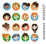 kids avatar collection. pupils... | Shutterstock .eps vector #451031527