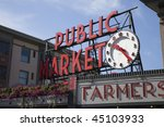 Famous Sign At Pike's Market I...