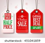 christmas sale tags set for... | Shutterstock .eps vector #451041859