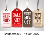 vector sale tags design... | Shutterstock .eps vector #451042027
