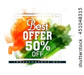 best offer sale and discount ... | Shutterstock .eps vector #451048315