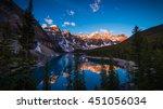 sunrise at moraine lake in... | Shutterstock . vector #451056034