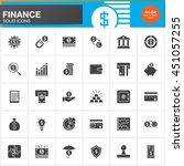 finance vector icons set  money ...   Shutterstock .eps vector #451057255