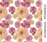 seamless pattern with beautiful ... | Shutterstock . vector #451060621