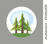Trees Icon. Forest. Spruce ...