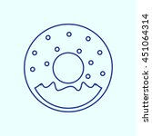 donuts line icon. eps 10.   Shutterstock .eps vector #451064314