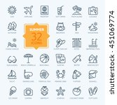 outline web icon set   summer ... | Shutterstock .eps vector #451069774