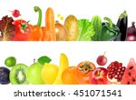 collection of color fruits and... | Shutterstock . vector #451071541