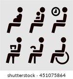 disabilities and seniors ... | Shutterstock .eps vector #451075864