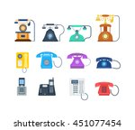 telephones call contact ... | Shutterstock .eps vector #451077454