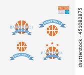 basketball. set. vector... | Shutterstock .eps vector #451082875