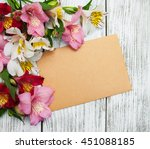 Blank Paper Card With...