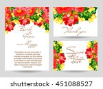 vintage delicate invitation... | Shutterstock . vector #451088527
