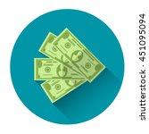 money dollar cash colorful icon ... | Shutterstock .eps vector #451095094