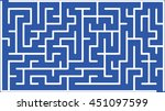 abstract vector labyrinth of...   Shutterstock .eps vector #451097599