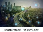 smart city and wireless... | Shutterstock . vector #451098529