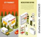 pharmacy drugstore 2 vertical...   Shutterstock .eps vector #451100635