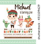 kids birthday party invitation... | Shutterstock .eps vector #451109629