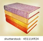 the stack of books on a white... | Shutterstock . vector #451114924