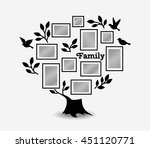 memories tree with picture... | Shutterstock .eps vector #451120771