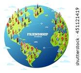people friendship.... | Shutterstock .eps vector #451121419