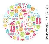 round design element with...   Shutterstock .eps vector #451122511