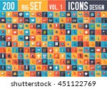 vol. 1 flat collection set... | Shutterstock .eps vector #451122769