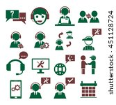 support  service icon set | Shutterstock .eps vector #451128724
