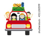 family goes on vacation... | Shutterstock .eps vector #451130599