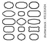 black frames set for pictures....   Shutterstock .eps vector #451131424