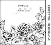 vector floral vintage... | Shutterstock .eps vector #451132555