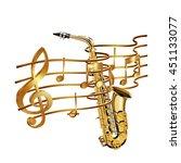 vector illustration of gold... | Shutterstock .eps vector #451133077