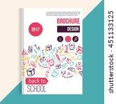 back to school brochure hand...   Shutterstock .eps vector #451133125