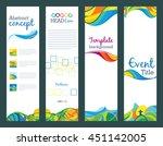 summer travel   set of vertical ... | Shutterstock .eps vector #451142005