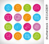 social network icons  outline... | Shutterstock .eps vector #451142809