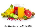 tropical wet fruits with... | Shutterstock . vector #45114328