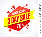3 day sale poster  banner... | Shutterstock .eps vector #451143355