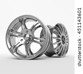 aluminum wheel image 3d high... | Shutterstock . vector #451143601