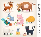 set of popular colorful vector... | Shutterstock .eps vector #451144021