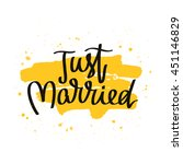 quote just married. the trend... | Shutterstock .eps vector #451146829