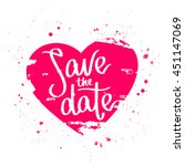 quote save the date. the trend... | Shutterstock .eps vector #451147069