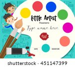 little artist  kids diploma... | Shutterstock .eps vector #451147399