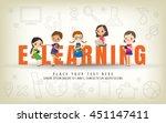 e learning kids education... | Shutterstock .eps vector #451147411