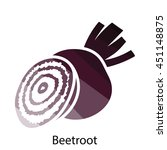 beetroot  icon. flat color...