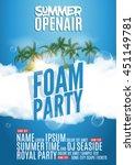 foam party summer open air.... | Shutterstock .eps vector #451149781