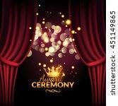 award ceremony design template. ... | Shutterstock .eps vector #451149865