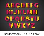 vector of stylized paper font... | Shutterstock .eps vector #451151269