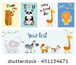 Stock vector cute kids cards and banner 451154671