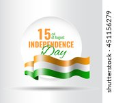 indian independence day concept ... | Shutterstock .eps vector #451156279
