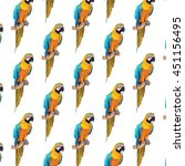 Colorful Parrot Pattern Vector